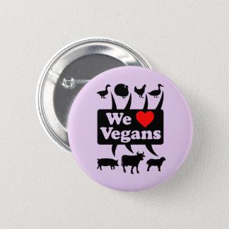 Chapa Redonda De 5 Cm Amamos a veganos II (el negro)