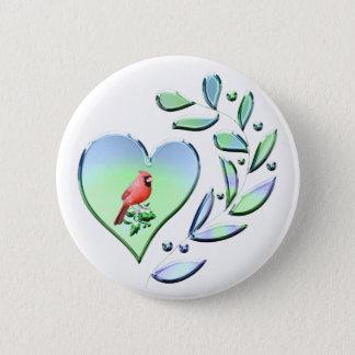 Chapa Redonda De 5 Cm Amante cardinal