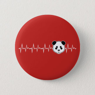 Chapa Redonda De 5 Cm Amante de la panda
