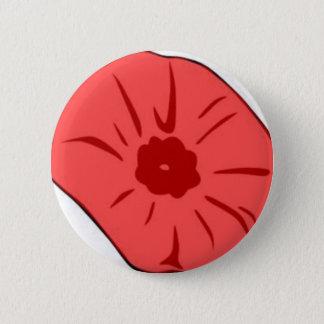 Chapa Redonda De 5 Cm Amapola roja