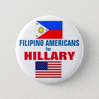 Chapa Redonda De 5 Cm Americanos filipinos para Hillary 2016