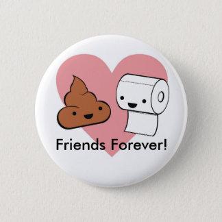Chapa Redonda De 5 Cm ¡amigos para siempre, amigos para siempre!