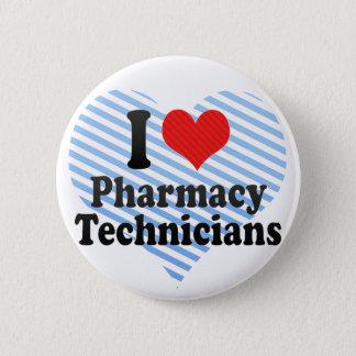 Chapa Redonda De 5 Cm Amo a técnicos de la farmacia