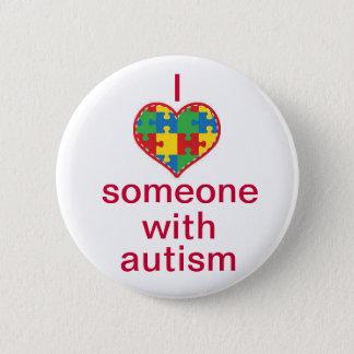 Chapa Redonda De 5 Cm Amo alguien con autismo
