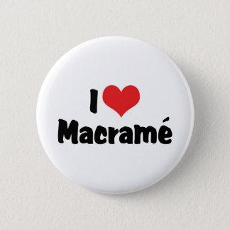 Chapa Redonda De 5 Cm Amo el corazón Macramé