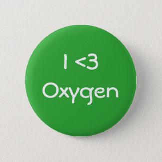 Chapa Redonda De 5 Cm Amo el oxígeno