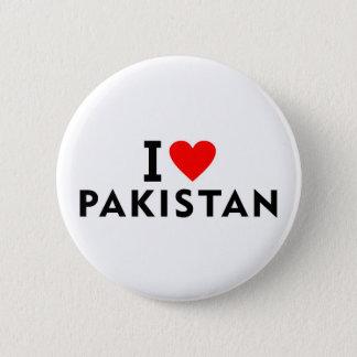 Chapa Redonda De 5 Cm Amo el país de Paquistán como el turismo del viaje