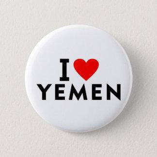 Chapa Redonda De 5 Cm Amo el país de Yemen como el turismo del viaje del