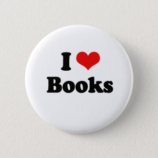 Chapa Redonda De 5 Cm Amo la camiseta de los libros