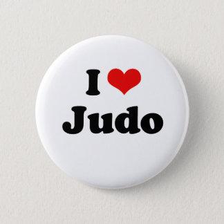 Chapa Redonda De 5 Cm Amo la camiseta del judo