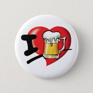 Chapa Redonda De 5 Cm Amo la cerveza