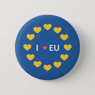 Chapa Redonda De 5 Cm Amo la insignia de la UE - permanecen los votantes