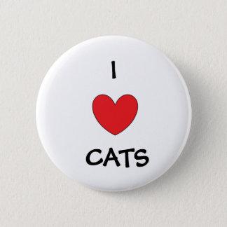Chapa Redonda De 5 Cm Amo la insignia de los gatos