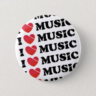 Chapa Redonda De 5 Cm Amo la música - insignia