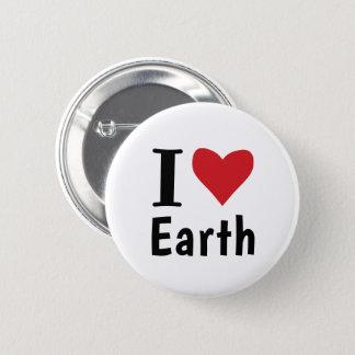 Chapa Redonda De 5 Cm Amo la tierra