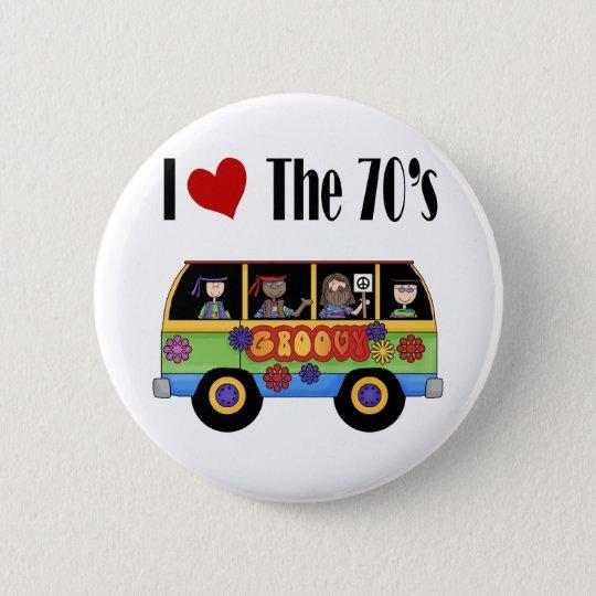 Chapa Redonda De 5 Cm Amo los años 70