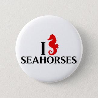 Chapa Redonda De 5 Cm Amo los caballos de mar, Seahorses