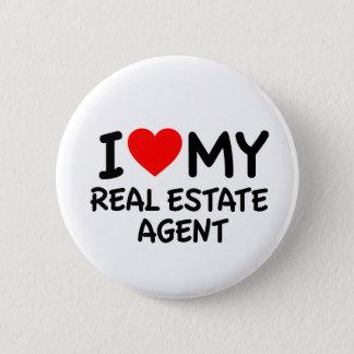 Chapa Redonda De 5 Cm Amo mi agente inmobiliario