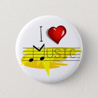 Chapa Redonda De 5 Cm Amo música