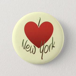Chapa Redonda De 5 Cm Amo Nueva York