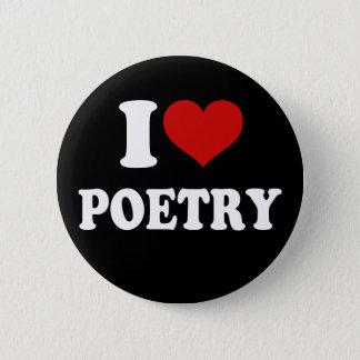 Chapa Redonda De 5 Cm Amo poesía