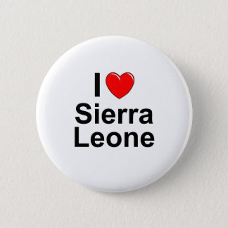 Chapa Redonda De 5 Cm Amo Sierra Leone del corazón