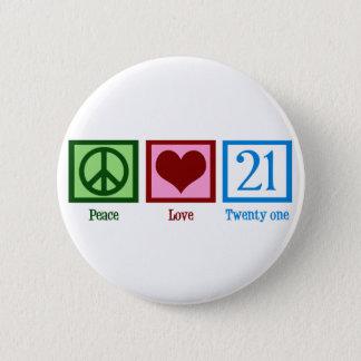 Chapa Redonda De 5 Cm Amor 21 de la paz