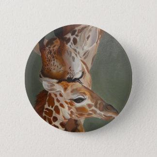 Chapa Redonda De 5 Cm Amor de la jirafa