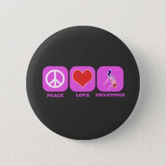 Chapa Redonda De 5 Cm Amor Filipinas de la paz