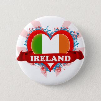 Chapa Redonda De 5 Cm Amor Irlanda del vintage I