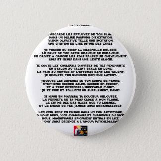 Chapa Redonda De 5 Cm Amor psicodélico - Juegos de palabras - Francois