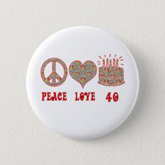 Chapa Redonda De 5 Cm Amor y 40 de la paz