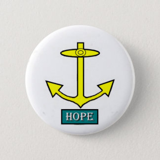 Chapa Redonda De 5 Cm Ancla de la esperanza de Rhode Island