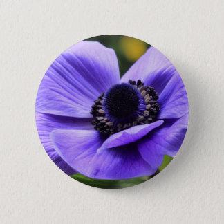 Chapa Redonda De 5 Cm Anémona púrpura