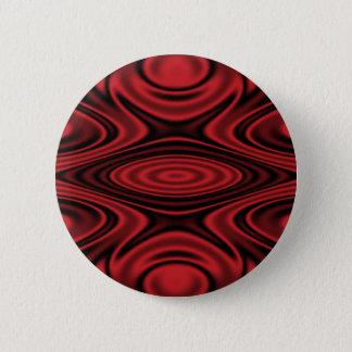Chapa Redonda De 5 Cm Anillos y ondulaciones rojos