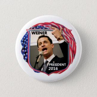 Chapa Redonda De 5 Cm Anthony Weiner para el presidente 2016
