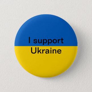 Chapa Redonda De 5 Cm Apoyo Ucrania