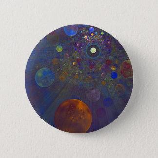 Chapa Redonda De 5 Cm Arte abstracto del universo alterno