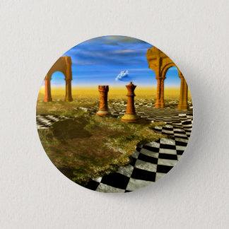Chapa Redonda De 5 Cm Arte del ajedrez