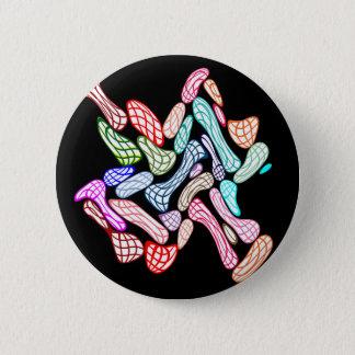Chapa Redonda De 5 Cm Arte pintado de los guijarros de los mármoles