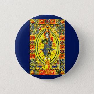 Chapa Redonda De 5 Cm Arte popular bizantino Jesús