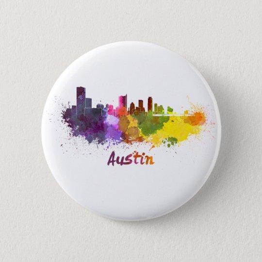 Chapa Redonda De 5 Cm Austin skyline in watercolor