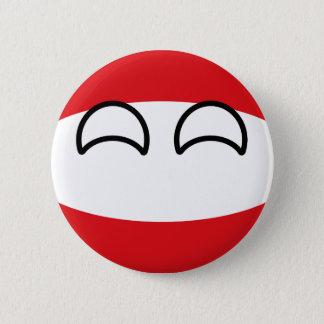 Chapa Redonda De 5 Cm Austria Geeky que tiende divertida Countryball