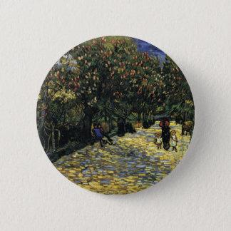 Chapa Redonda De 5 Cm Avenida con los árboles de castaña en Arles - Van
