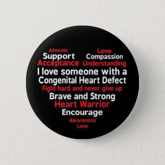 Chapa Redonda De 5 Cm Ayuda congénita de la semana de la conciencia del