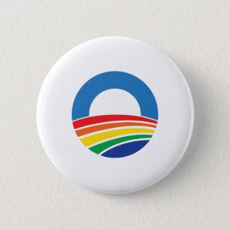 Chapa Redonda De 5 Cm Ayuda de Obama 2012 para el matrimonio homosexual