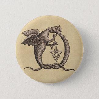 Chapa Redonda De 5 Cm Azufre y dragones de Mercury
