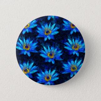 Chapa Redonda De 5 Cm azul del lirio de agua de Van Gogh