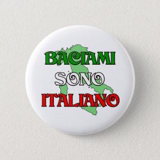 Chapa Redonda De 5 Cm Baciami Italiano (béseme que soy italiano)