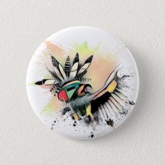 Chapa Redonda De 5 Cm Bailarín de Kachina del nativo americano